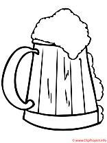 Biere coloriage