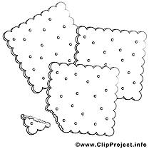 Biscuits dessin gratuit – Cuisine à colorier