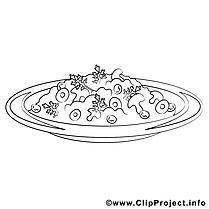 Champignons images gratuites – Cuisine à colorier
