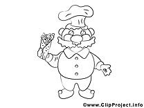 Cuisinier dessins gratuits – Cuisine à colorier