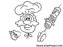 Cuisinier image à télécharger – Cuisine à colorier