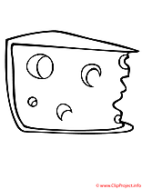 Fromage coloriage