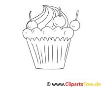 Gâteau clip arts – Cuisine à imprimer