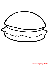 Hamburger coloriage