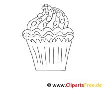 Petit gâteau dessin à télécharger – Cuisine à colorier