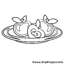 Pommes image à télécharger – Cuisine à colorier