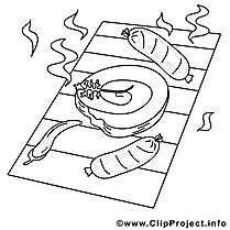 Viande grillée dessins gratuits – Cuisine à colorier