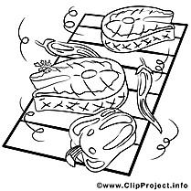 Viande grillée image gratuite – Cuisine à colorier