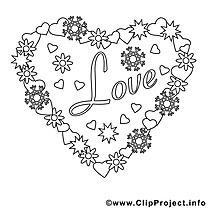 Amour clip art gratuit – Saint-valentin à imprimer