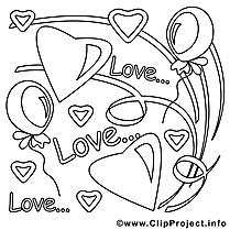 Amour illustration – Saint-valentin à imprimer