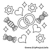 Bonbons clip arts – Saint-valentin à imprimer