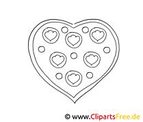 Clip art gratuit coeur – Saint-valentin à imprimer
