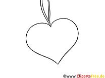 Clip arts coeur – Saint-valentin à imprimer