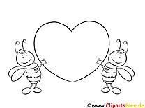 Clipart coeur – Saint-valentin dessins à colorier