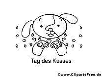 Clipart ours – Saint-valentin dessins à colorier