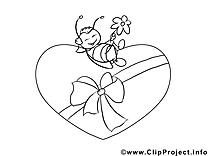 Cliparts gratuis abeille – Saint-valentin à imprimer