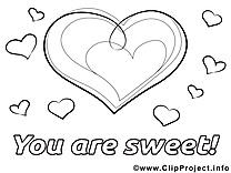 Coeur clip art gratuit – Saint-valentin à imprimer
