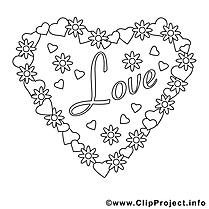 Coeur dessin à télécharger – Saint-valentin à colorier