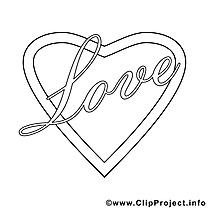 Coeur illustration – Saint-valentin à imprimer