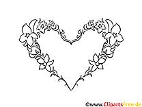 Coloriage coeur image à télécharger gratuite