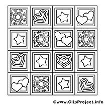 Décoration dessin – Saint-valentin gratuits à imprimer