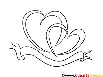 Dessin coeurs – Coloriage saint-valentin à télécharger