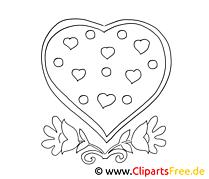 Dessin gratuit coeur – Saint-valentin à colorier