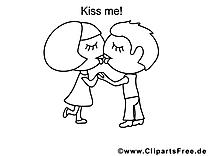 Embrasse-moi dessins gratuits – Saint-valentin à colorier