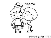 Embrasse-moi illustration – Saint-valentin à imprimer