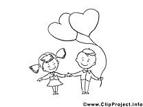 Enfants clip arts – Saint-valentin à imprimer