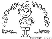 Femme image – Saint-valentin images à colorier