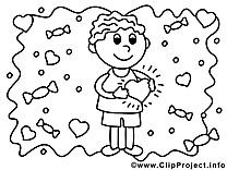 Femme image gratuite – Saint-valentin à imprimer