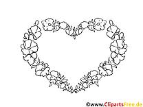 Fête clip arts – Saint-valentin à imprimer
