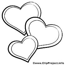 Fête image à télécharger – Saint-valentin à colorier