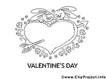 Flèche clipart – Saint-valentin dessins à colorier