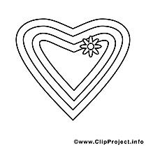Fleur coeur illustration – Saint-valentin à imprimer