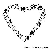 Fleurs clip art gratuit – Saint-valentin à imprimer