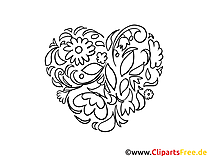Saint Valentin Cartes Pour La Coloration Clipart Images