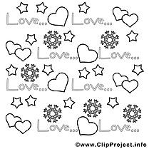 Flocons image à télécharger – Saint-valentin à colorier