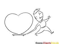 Homme dessin – Saint-valentin gratuits à imprimer