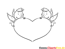 Illustration anges – Saint-valentin à imprimer