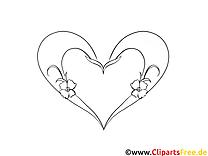 Illustration coeur gratuite – Saint-valentin à colorier.png