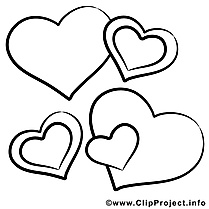 Illustration coeurs – Saint-valentin à imprimer
