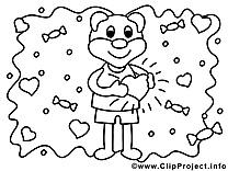 Ours clip arts – Saint-valentin à imprimer