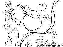Papillons cliparts gratuis – Saint-valentin à imprimer