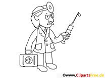 Docteur dessin gratuit – Santé à colorier