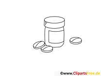 Dragées dessin à télécharger – Santé à colorier