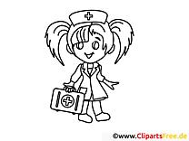 Infirmière dessins gratuits – Santé à colorier