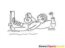 Patient dessin – Santé gratuits à imprimer