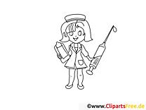 Piqûre dessin – Coloriage santé à télécharger